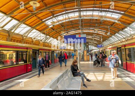 Hackescher Markt S-Bahn station, Berlin, Germany - Stock Photo