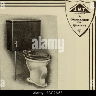 . Hardware merchandising August-October 1912. VICTORIAN VITREOUS-CHINA LAVATORIES Made of strong vitreous chinaware, having a permanent rich,glossy white surface, impervious to crazing. The most per-fect sanitary basin on the market. They are made in differ-ent styles and sizes. ILLUSTRATED HANGER ON REQUEST.. THE ELGIN This is strictly a high quality LODOWN TANK CEOSET. Its selling pricecombined with its attractiveness is cer-tain to appeal to prospective buyers. Give it a trial—you will be highlypleased with the profit. & PLUMBING GOODS The Highest Satisfaction we offer to the trade. backed - Stock Photo