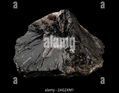 Smokey quartz crystal (SiO2) from Brasil isolated on black background - Stock Photo