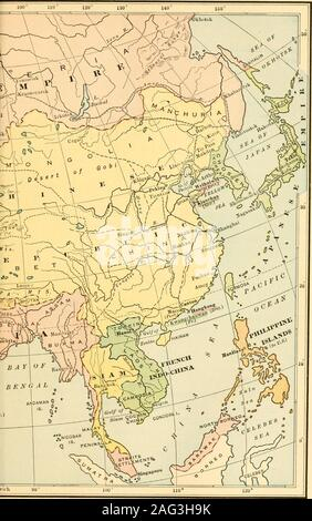 . Modern and contemporary European history (1815-1921). THE EXPANSION OF EUROPE 659 years in China, where he was highly esteemed by theEmperor. During the sixteenth century Portuguese mer-chants established a trading-post at Macao, near Canton.In the following century the Dutch established one on theIsland of Formosa, and the British, one at Canton. TheseEuropean traders were greatly harassed by the Chineseofficials, who told them that China had no need of them orof their goods. They managed to stay on by bribing andcajoling the officials, but their property and even theirlives were frequently - Stock Photo