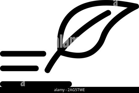 write by hand icon vector. Isolated contour symbol illustration - Stock Photo