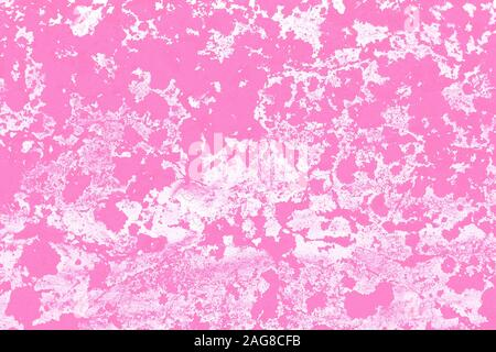 Abstract spotted pattern of stucco on the wall. Motley template, background texture. Blots on a pink canvas. Paint stains in watercolor style - Stock Photo