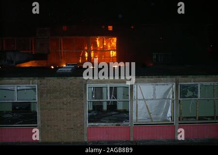 New South Wales bushfires, rural buildings destroyed by fire - Stock Photo