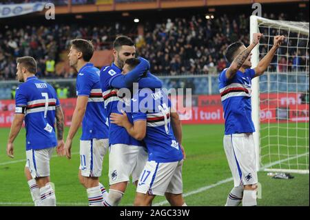 Genova, Italy, 18 Dec 2019, sampdoria, happiness during Sampdoria vs Juventus - Italian Soccer Serie A Men Championship - Credit: LPS/Danilo Vigo/Alamy Live News - Stock Photo