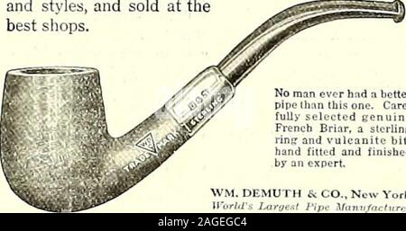 . The Tiger (student newspaper), Sept. 1918-June 1919. rhnd a bolterpipe than this one. Care-fully selected genuineFrench Briar, a slerlinttrinsr and* vulcanite bit.hand fitted and finished ;. DEMUTH & CO., Nov ra - Stock Photo