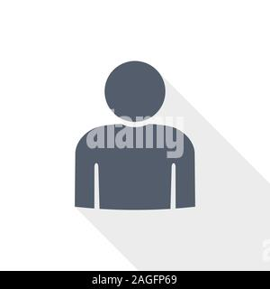 Man vector icon, male concept flat design illustration for web design and mobile applications - Stock Photo
