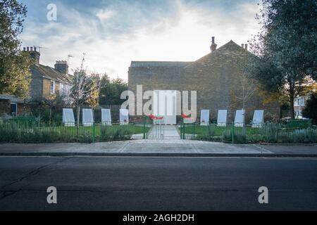 The war memorial in the medieval market town of  Faversham, Kent, UK - Stock Photo