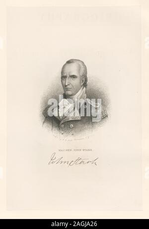 Printmakers include Henry Bryan Hall and Luigi Schiavonetti. EM8505 Statement of responsibility : H.B. Hall; Maj. Gen. John Stark - Stock Photo