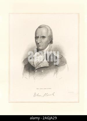 Printmakers include Henry Bryan Hall and Luigi Schiavonetti. EM8523 Statement of responsibility : Forest; Maj. Gen. John Stark - Stock Photo