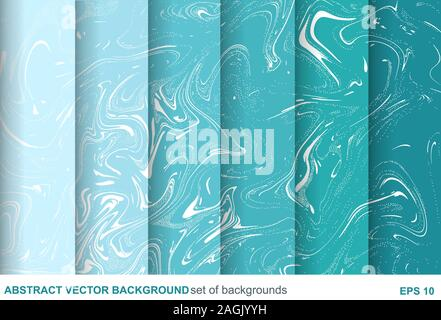 Set Of Paint And Marble Textures Background For Wedding Banner And Beauty Salon Vector Stock Vector Image Art Alamy