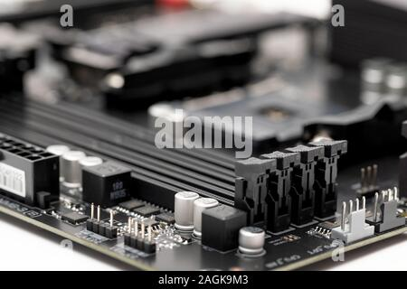 Cose up picture of a brand new computer motherboard - Stock Photo