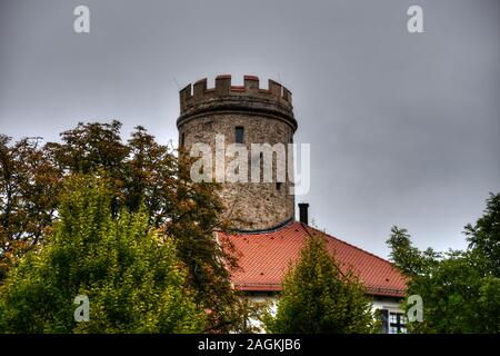Thierlstein, Schloss, Burg Lichtenstein, Burg, Bergfried, Quarzfelsen, Pfahl, Schloss Thierlstein, Cham, Oberpfalz, Pfalz, Landkreis, Bayern, Turm, Bu - Stock Photo