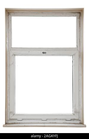 window in the hall of an apartment building isolated on a white background - Stock Photo