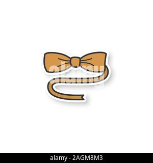 Bow tie patch. Color sticker. Vector isolated illustration - Stock Photo