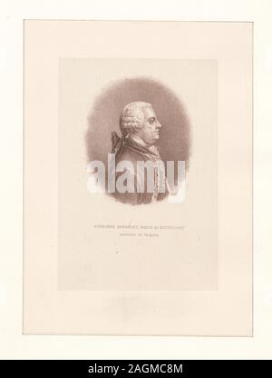 EM3755; Norborne Berkeley, Baron de Bottetourt, Governor of Virginia. - Stock Photo