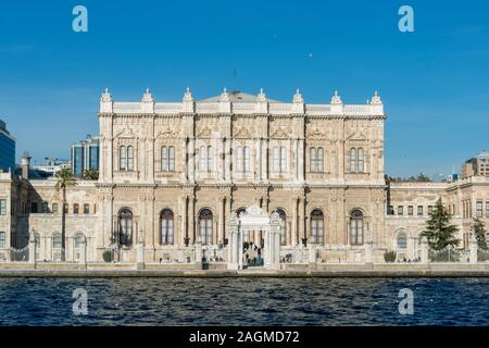 DECEMBER 17,2019 ISTANBUL TURKEY,Dolmabahce Palace built in 19 th century is one of the most glamorous palaces in the world.
