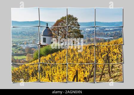 The Jacobstein is a vineyard gazebo in Radebeul near Dresden, administrative district Meissen, Saxony, Germany, Europe - Stock Photo