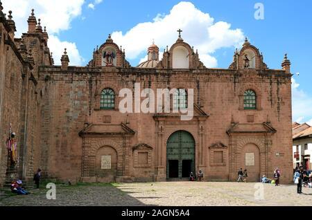 The Church of Triumph or Iglesia del Triunfo on Plaza de Armas Square, the Oldest Church in Cusco of Peru - Stock Photo