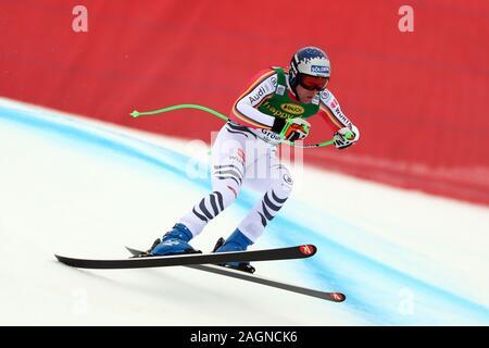 Tyrol, Italy. 20th Dec 2019. Saslong, Val Gardena, Tyrol, Italy; International Ski Federation, Val Gardena Alpine Skiing, Saslong Classic, Super-G, Thomas Dressen (GER); - Editorial Use Credit: Action Plus Sports Images/Alamy Live News - Stock Photo