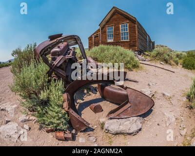 Remains of an old car, Bodie ghost town, Bodie State Historic Park, California. - Stock Photo