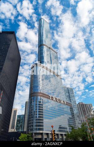 Trump International Hotel and Tower, Chicago, Illinois, Usa - Stock Photo