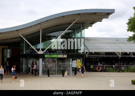 Oxford Services Waterstock on the M40 Oxfordshire England Welcome Break Motorway Service Station
