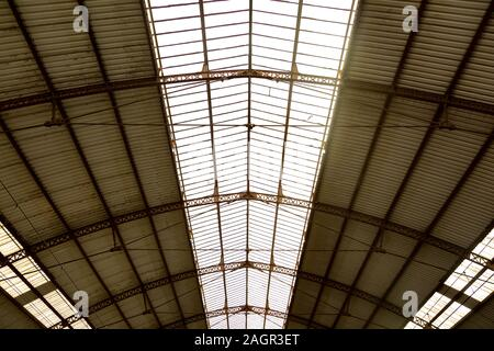Roof of the train station in Avignon in France - Stock Photo