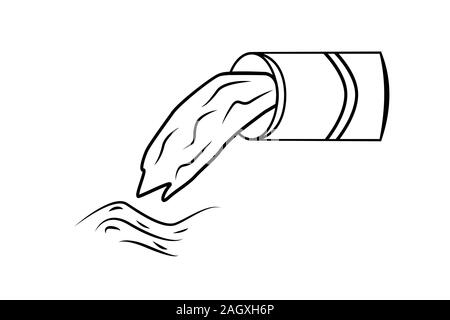 Wastewater line icon  isolated on white background.  Linear sewage pipe outline icon, sign or symbol from industry theme. Stock vector illustration. - Stock Photo