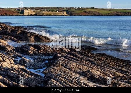 Charles Fort by the sea at Kinsale, County Cork, Ireland - Stock Photo