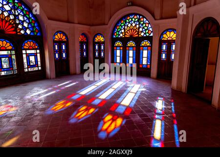 Historical house in Kashan Iran - Stock Photo