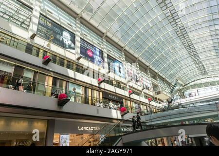 Interior shot of the Marina Bay Sands shopping Mall in Singapore, Asia - Stock Photo