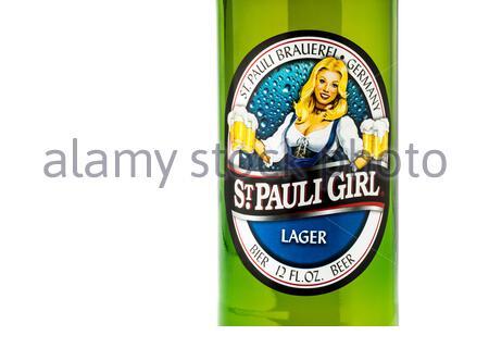 St. Pauli Girl Beer _ Simsbury, Connecticut, USA - Stock Photo