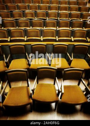 Empty theater seats,, France