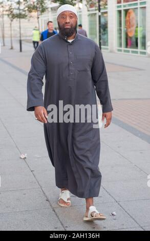 Abu Izzadeen organiser of a protest to introduce Sharia law zones in Walthamstow. - Stock Photo