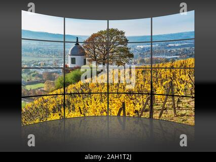 The Jacobstein is a vineyard gazebo in Radebeul, Saxony, Germany, Europe - Stock Photo