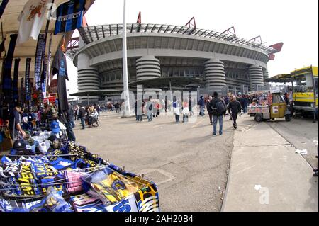 Milano Italy 31 March 2008  :The San Siro Stadium after the game - Stock Photo