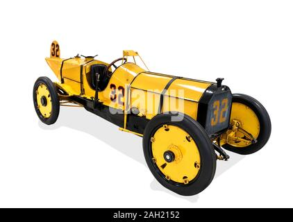 The Marmon 'Wasp' which won the inaugural 1911 Indianapolis 500 in 1911, Indianapolis Motor Speedway Museum, Indianapolis, Indiana, USA. - Stock Photo