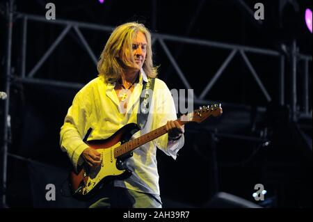 Vigevano Italy, from 13 June to 24 July 2012, live concerts Festival of Vigevano: the guitarist of Lynyrd Skynyrd, Mark Matejka - Stock Photo