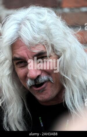 Vigevano Italy, from 13 June to 24 July 2012, live concerts Festival of Vigevano:  the bassist of Molly Hatchet,Tim Lindsey , before the concert - Stock Photo