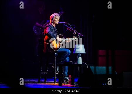 Bologna, Italy. 23rd Dec, 2019. A special date of the 'Lucio !!' tour, the Bolognese one, which will be the perfect closing of Ron's important tour, which started in May 2018 from the Teatro Dal Verme in Milan and it closes at Teatro Europauditorium, Bologna.Ron tells Lucio, from childhood to the last times, through his songs, with unpublished videos and photos for a show conceived as a theater play. (Photo by Luigi Rizzo/Pacific Press) Credit: Pacific Press Agency/Alamy Live News - Stock Photo