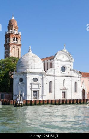 Chiesa di San Michele in Isola, a Renaissance church on San Michele island, the site of the Venetian burial grounds, Venice, Veneto, Italy - Stock Photo