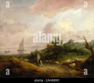 Coastal Landscape with a Shepherd and His Flock by Thomas Gainsborough