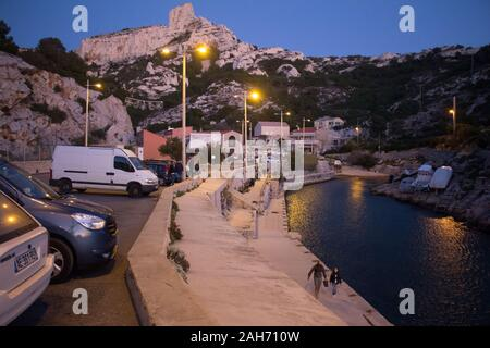 Marseille : Callelongue at dusk - Stock Photo