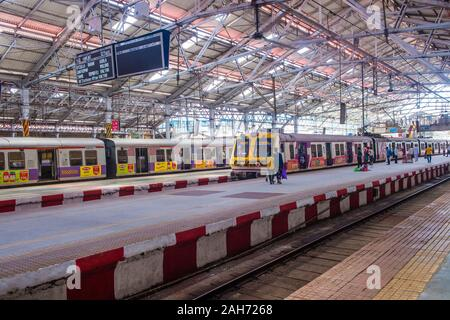 The suburban railway in Mumbai India Stock Photo