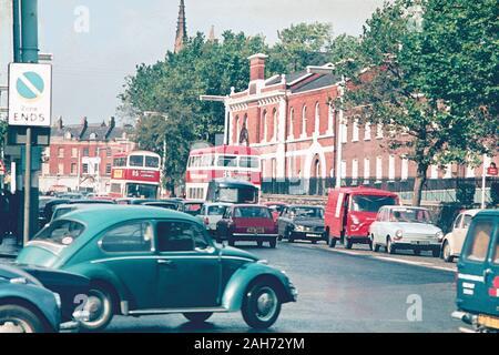 Belfast street scene in the 70s, Northern Ireland, UK - Stock Photo