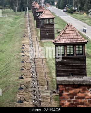 Views of Auschwitz II BIrkenau - Stock Photo