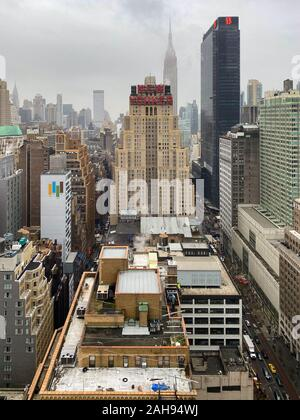New York City - Dec 13, 2019:  The New Yorker Hotel one of the most famous hotels in New York, located on 8th Avenue in Midtown Manhattan. - Stock Photo