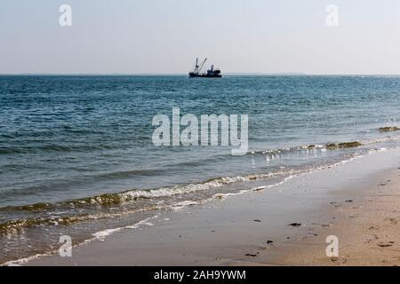 Strand, Meer, Fischkutter, Horizont, Hoernum, Sylt