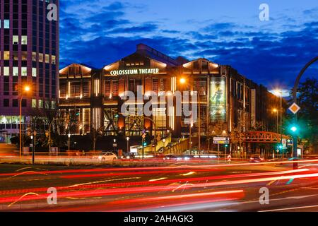 06.11.2019, Essen, North Rhine-Westphalia, Germany - Colosseum Theatre, musical theatre and event hall at Berliner Platz in downtown Essen, the Coloss - Stock Photo
