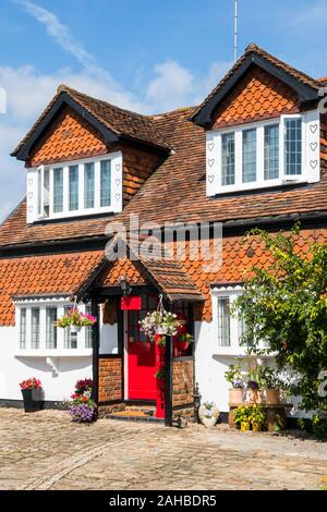 Typical grade II listed house in Amersham, Buckinghamshire, England - Stock Photo